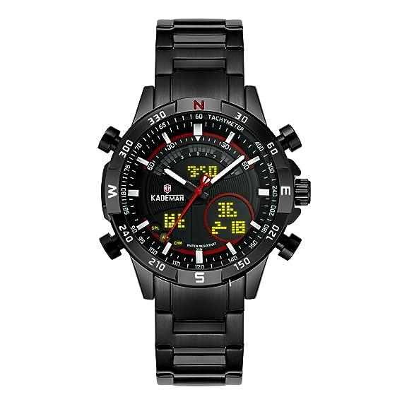 Relojes Deportivo Digital para Niño Niña y Niños 50M Impermeable  Electrónico LED Cronómetro Alarma Militar Multifunción Casual Reloj de  Digital ... 9d520049184a