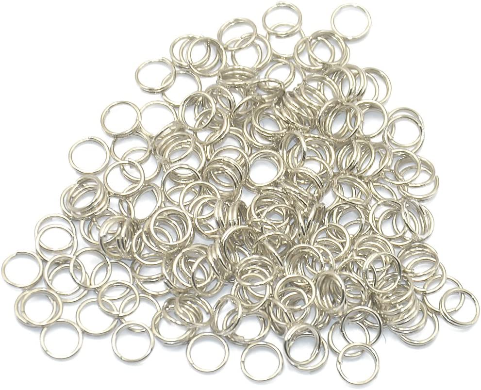 0.6 x 6 mm Gold 200pcs Metal Open Jump Rings Split Rings Connectors for Earring DIY Jewelry Making