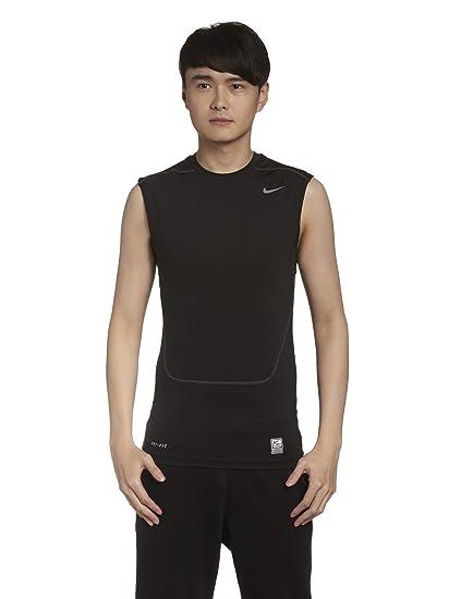af7f7017e NIKE T-shirt sans manches pour homme Pro Combat Core Compression 2.0 Rouge  Rouge/gris X-Large