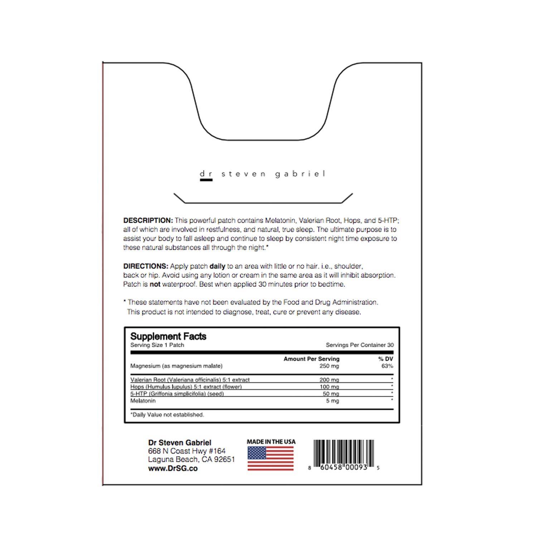 Amazon.com: DRSG Sleep Topical Patch – Cantidad: 30: Health ...