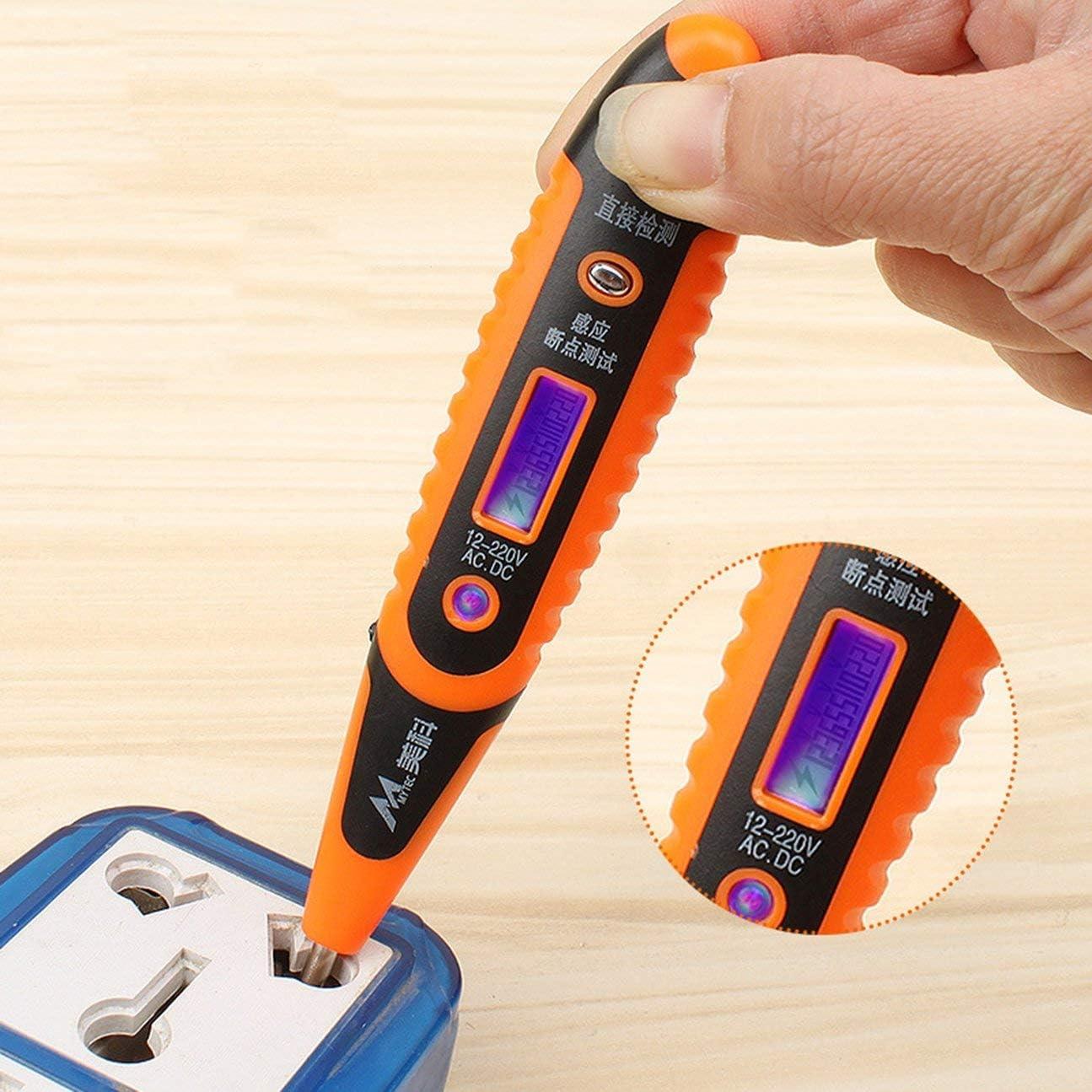 12V-250V AC//DC test Range Digital Tension détection Testeur Outil Crayon Noir