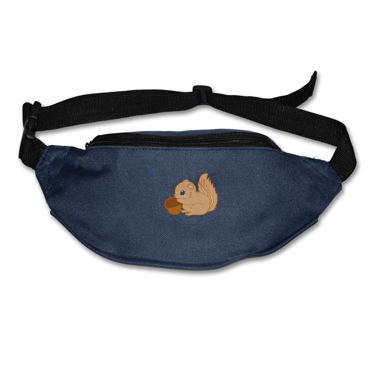 Squirrel Loves Pine Nut Sport Waist Pack Fanny Pack Adjustable For Travel