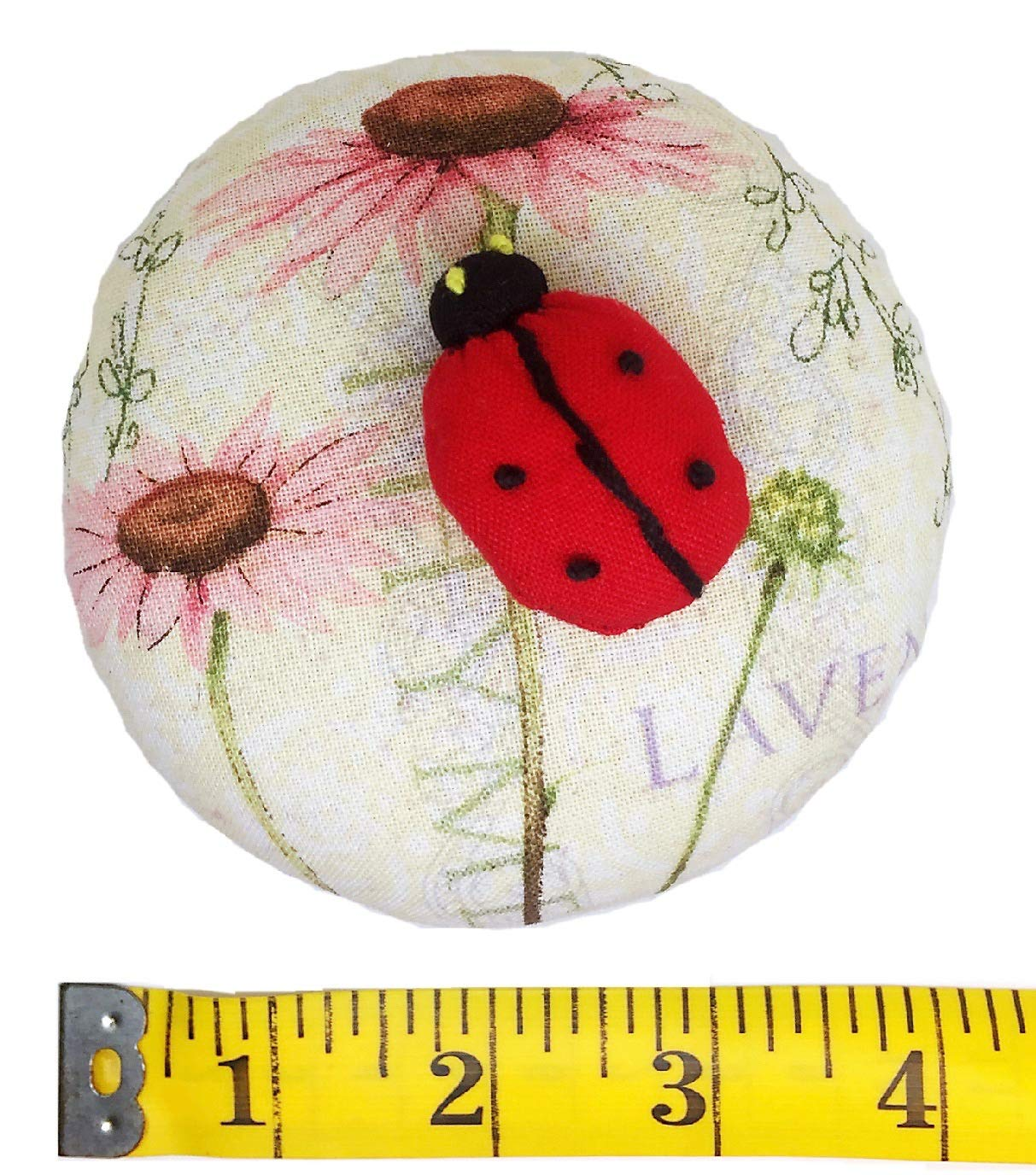 PeavyTailor Emery Pin Cushion 10oz Extra Large Keep Needles Clean and Sharp Needle Storage Organizer - Ladybug Red by PeavyTailor