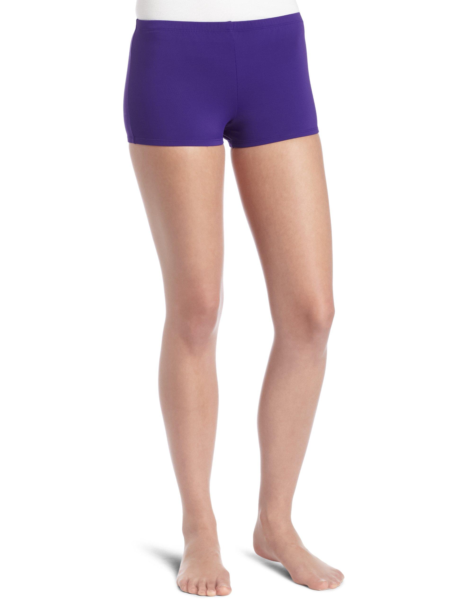Danskin Women's Boy Cut Short, Purple, Large