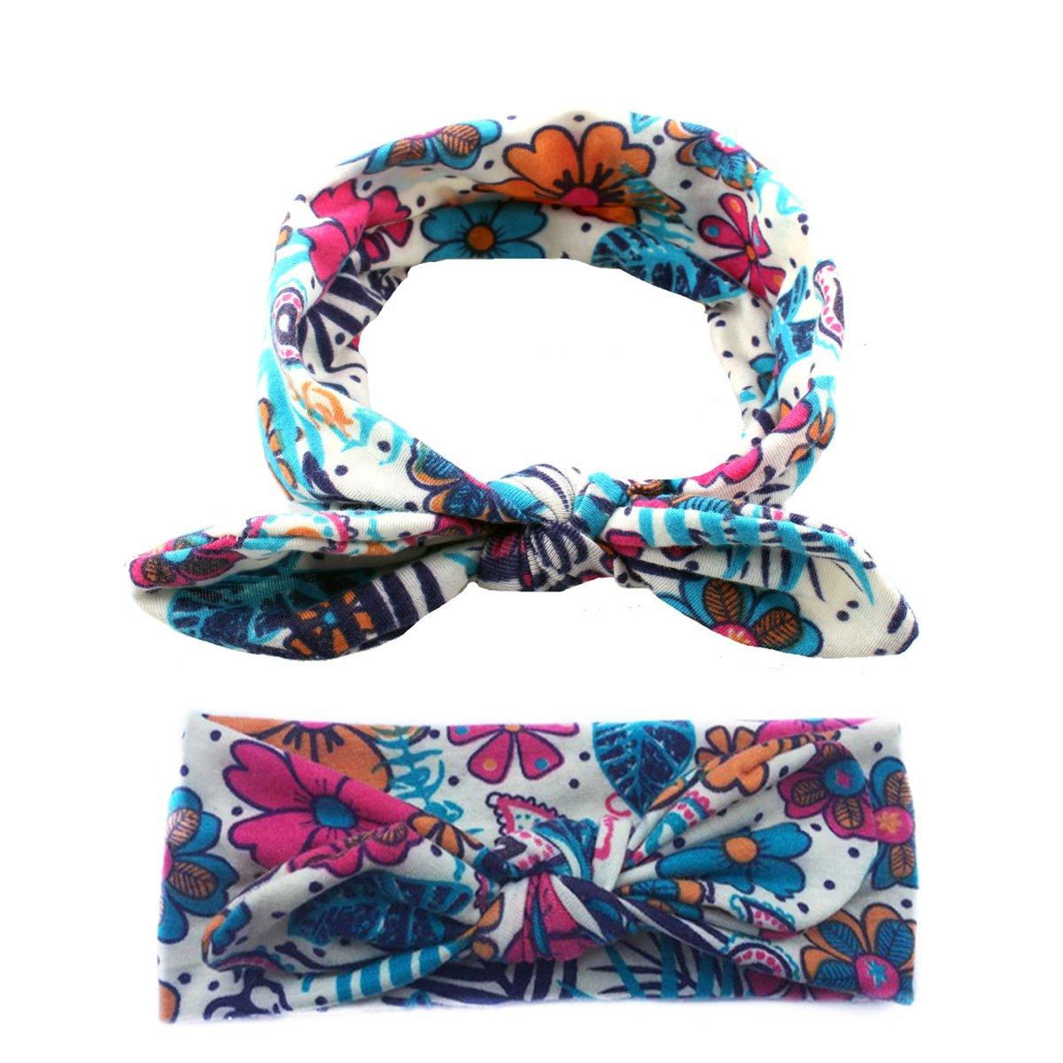 COUXILY Fascia Capelli Bambina con Motivo Floreale La Farfalla Turbante Accessori per capelli