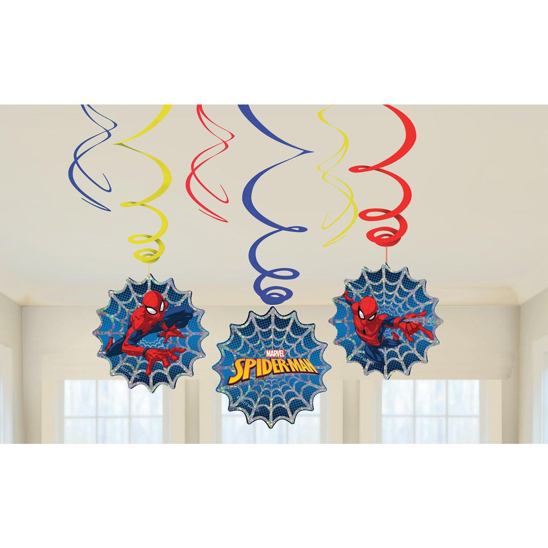 Amscan International 9902778 Spiderman SwirlSpiderman Swirl Decoration