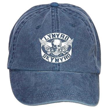 LongDaCo Lynyrd Skynyrd Wallpaper Cotton Baseball Cap with Adjustable Hat  Men - Blue - 8925de73c6a