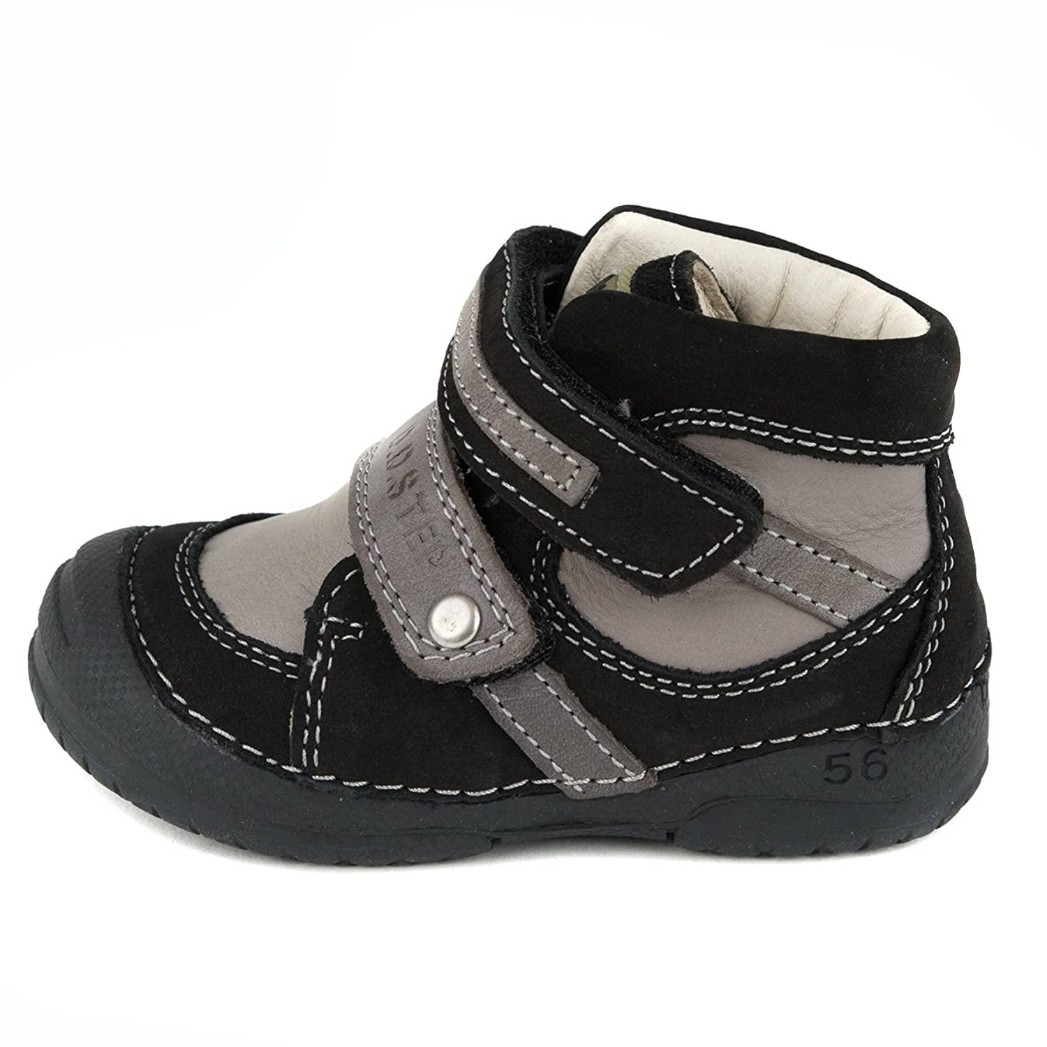 D.D. Step Boys' boots, genuine leather, black and grey, toddler size (038- 215A): Amazon.ca: Shoes & Handbags