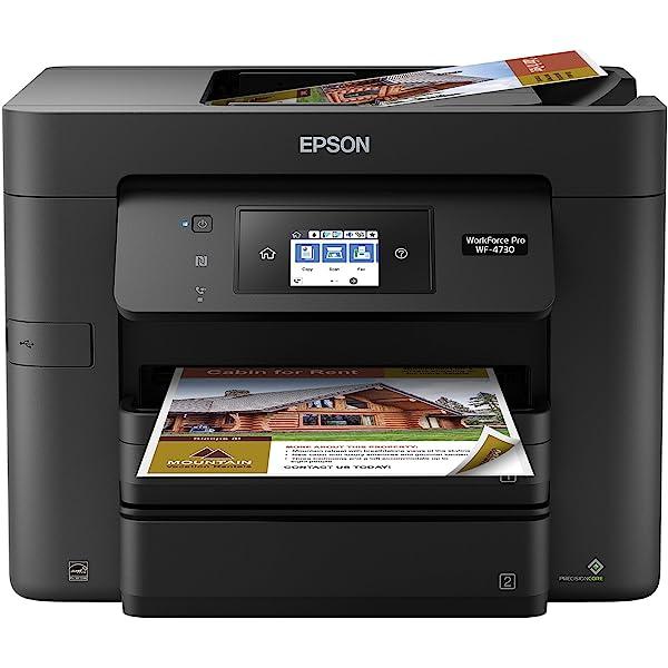 Amazon.com: Epson Workforce Pro WF-4730 Wireless All-in-One ...
