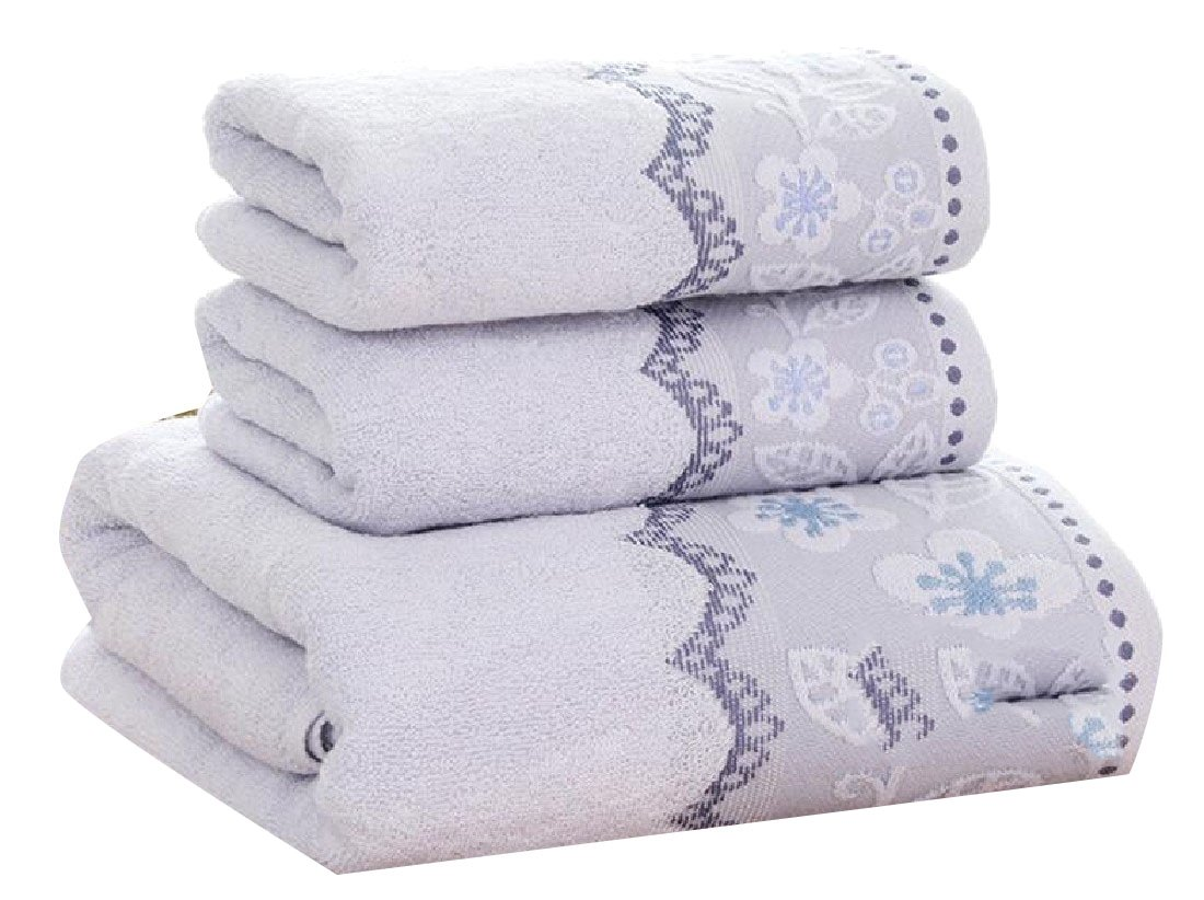 RSunshine No Fading Skin-Friendly Ultra Absorbent Ideal for Everyday use Floral Print Cotton Quality Antibacterial Bath Towel Light Blue 70140cm
