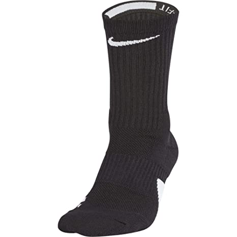Nike U NK Elite Crew Socks, Unisex Adulto, Black White, S