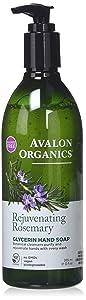Avalon Organics Rejuvenating Rosemary Glycerin Hand Soap, 12 oz.