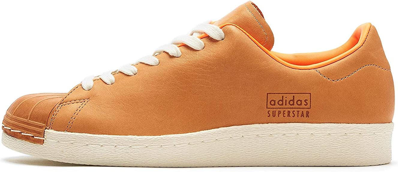 Mens Rubber Material Trainers Tan/White