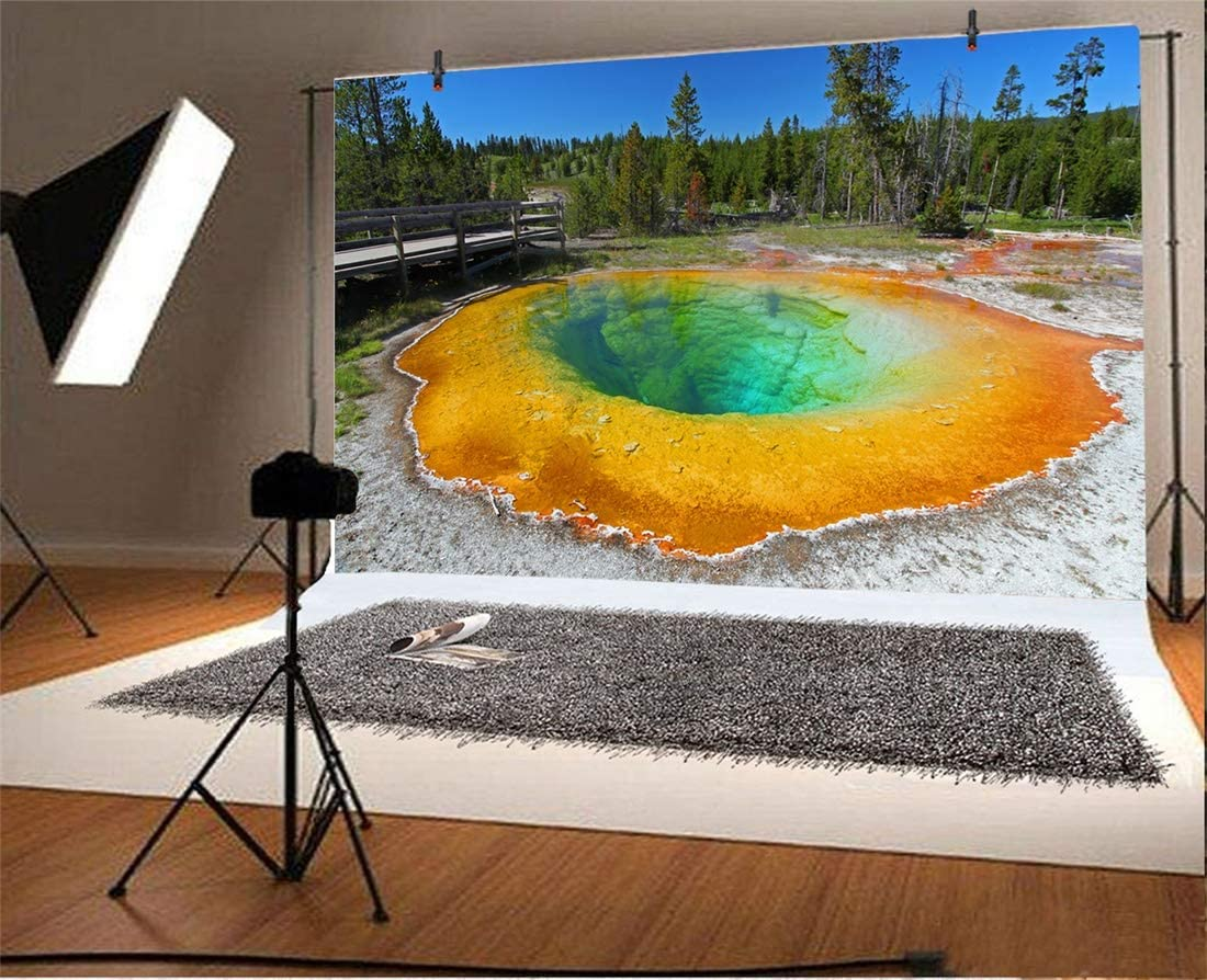 Yeele 10x8ft Wyoming Photography Background Yellowstone National Forest Grassland Photo Backdrops Portrait Shooting Studio Props Wallpaper