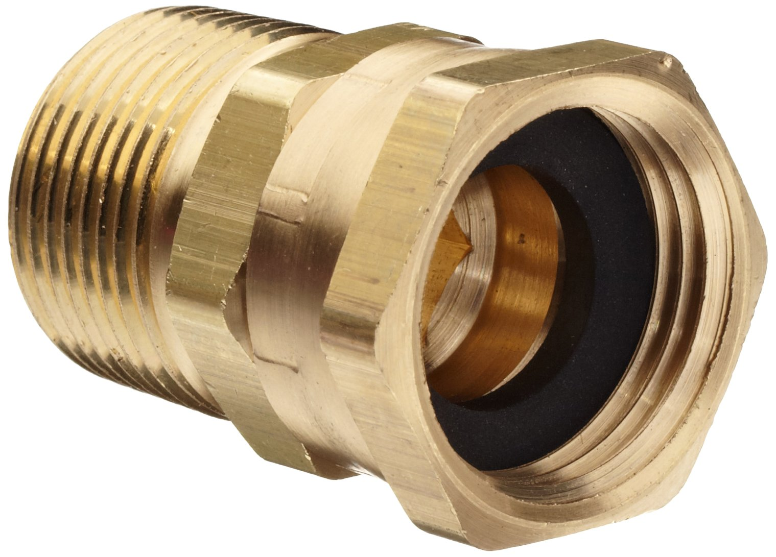 Dixon 504-1212 Brass Fitting, Adapter, GHT Female Swivel x 3/4'' NPTF Male