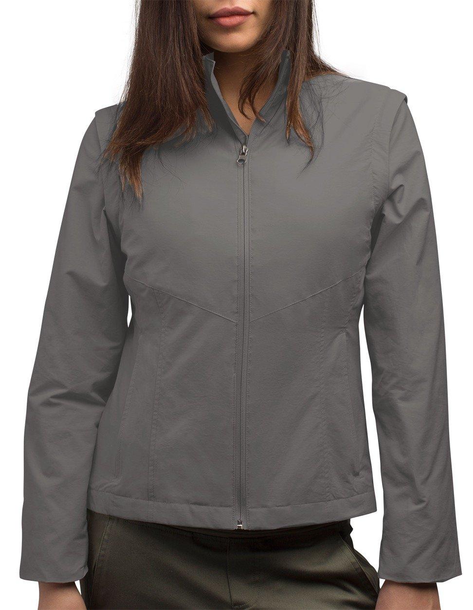 Women's SCOTTeVEST Jacket - 23 Pockets - Travel Clothing FOG M
