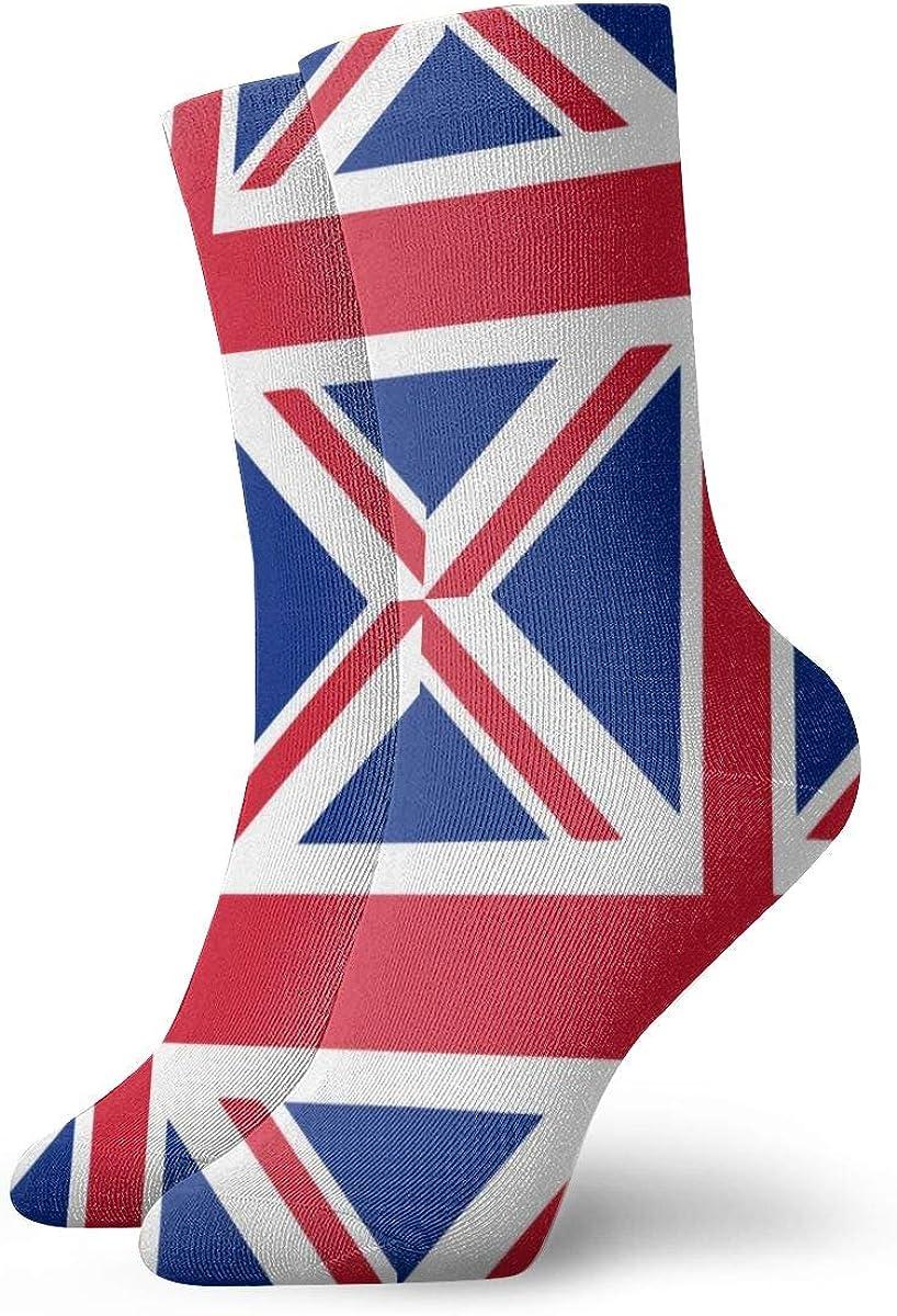 Running Travel Flight Socks Union Jack Crew Ankle Socks For Women /& Men