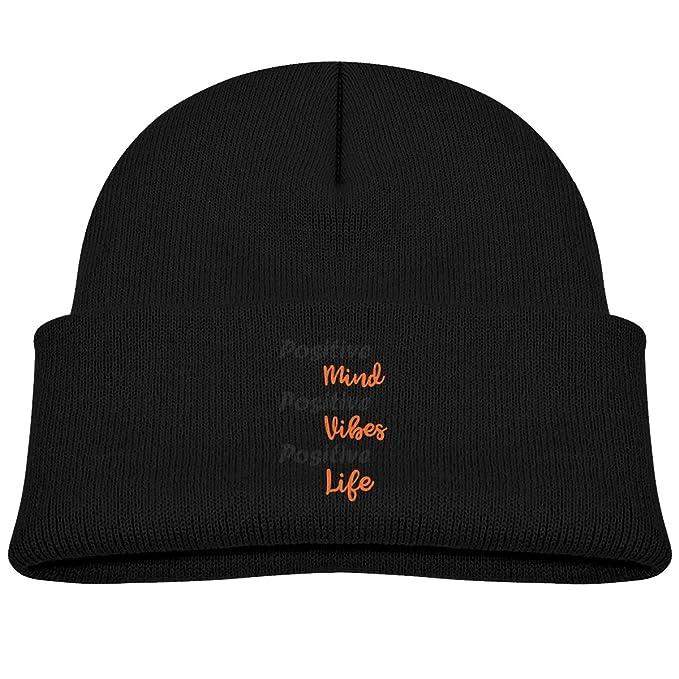 6eed27fa4a9 Amazon.com  Positive Mind Positive Vibes Positive Life Infant Cap Knit Hats   Clothing
