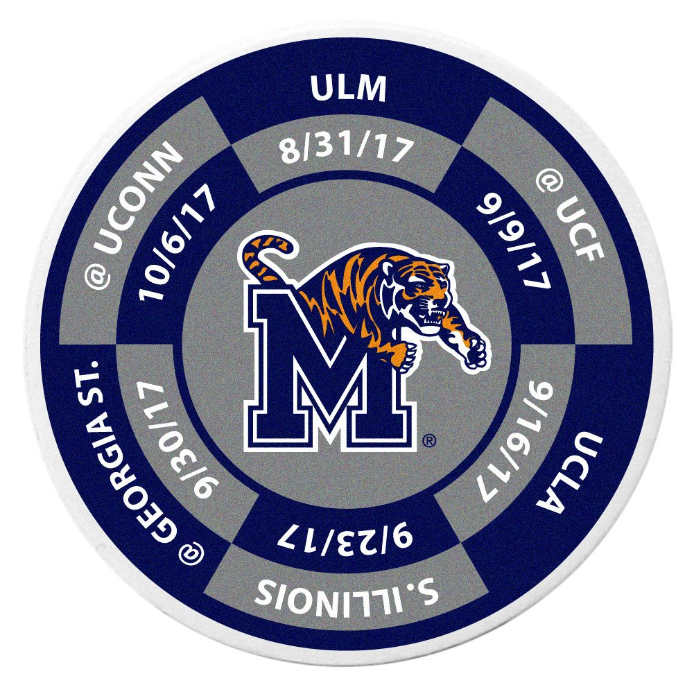 Siskiyou NCAA Memphis Tigers Schedule Golf Ball Marker Coin