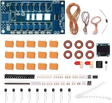 Kecheer Sintonizador de antena automático 1.8-50MHz ATU-100 N7DDC,Firmware OLED programado(Los componentes electrónicos SMD no están soldados)