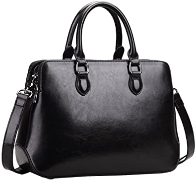 Amazon.com: Heshe Leather Womens Handbags Totes Top Handle Bags ...