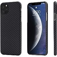 iPhone 11 Pro ケース「PITAKA」Magcase 軍用防弾チョッキ素材アラミド繊維 超薄(0.85mm) 超軽量(14g) 5.8インチ 超頑丈 耐衝撃 高耐久性 スリム 薄型 ミニマリスト シンプル 高級なカーボン風 ワイヤレス充電対応 iPhone 11 Pro カバー (黒/グレ-ツイル柄)