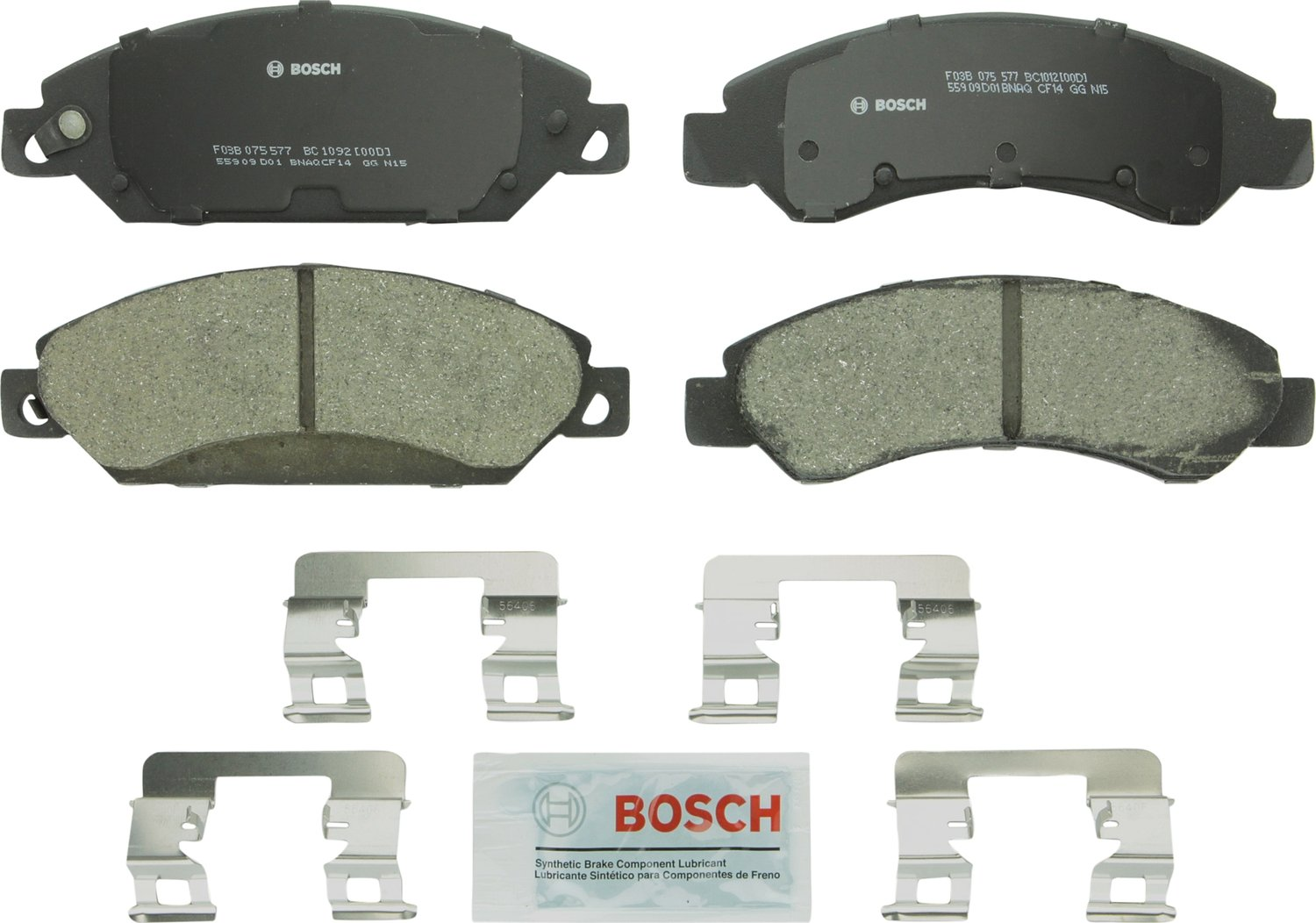 Bosch BC1092 QuietCast Brake Pad Set