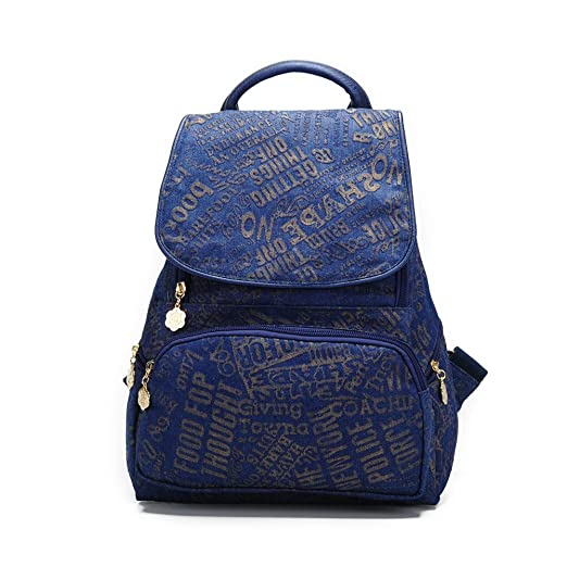 Ms.Camellia Fashion Blue Canvas Backpack For Girls Lightweight Blue  Schoolbag by 4c3745e40a4ba