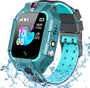 GBD Kids Smart Watch for Boys Girls -IP67 Waterproof Smartwatch Phone with Call Games SOS Alarm Clock 12/24 Hr,Kids Digital Wrist Watch for 3-12 Years Students Learning Toys Birthday Gifts (Green)