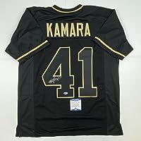 $134 » Autographed/Signed Alvin Kamara New Orleans Blackout Football Jersey Beckett BAS COA
