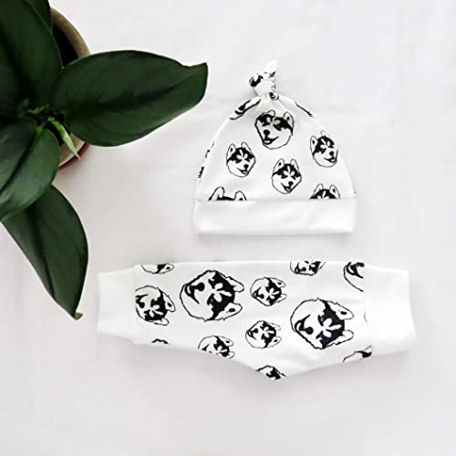 Organic Handmade Chihuahua Baby Clothes Infant Coming Home Outfit Chihuahua Organic Baby Leggings And Hat Set Newborn Hospital Clothes