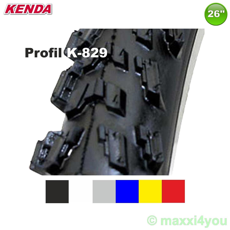 01022614-1 Kenda MTB Neumático de la bicicleta cubierta - 26 X 1.95 - 50-559 (Rojo 1x)