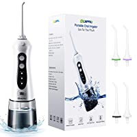 Water Flosser Professional Cordless Dental Oral Irrigator - 300ML Portable and Rechargeable...