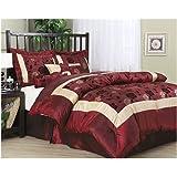 Nanshing Angela King 7-Piece Jacquard Comforter Set, Red