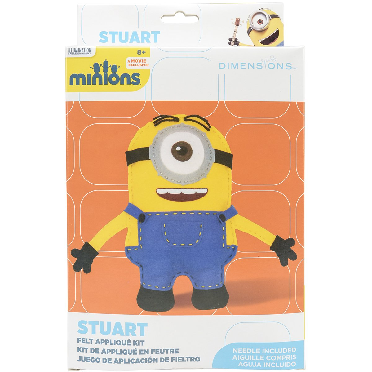 Dimensions Needlecrafts 72-74480 Minions Stuart Felt Applique Kit