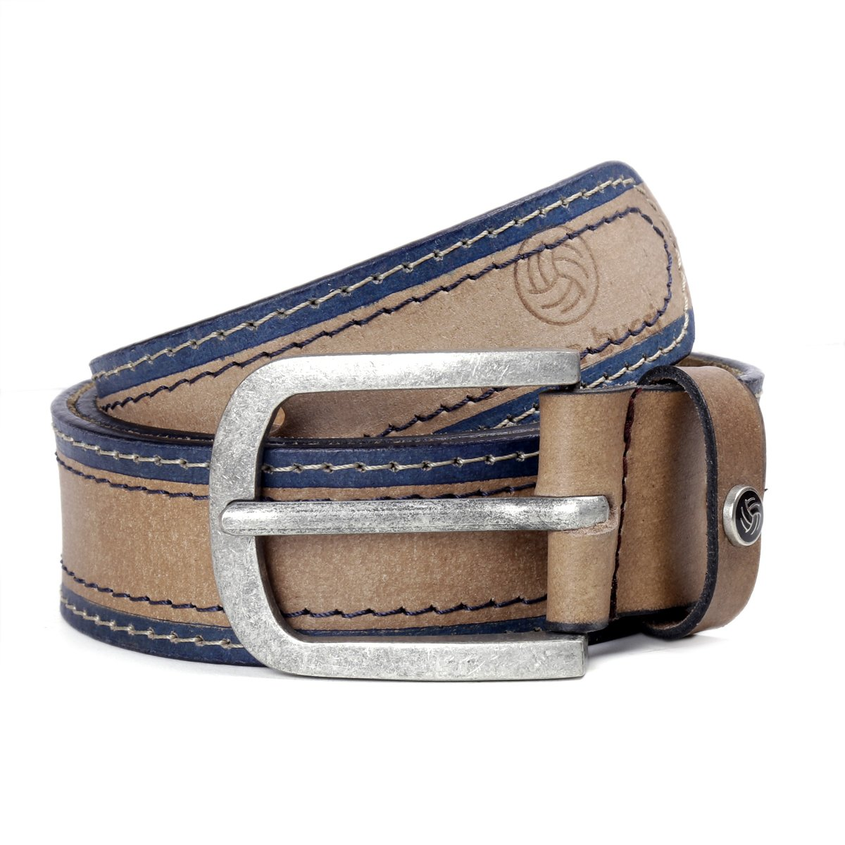Bacca Bucci Men's Leather Belt, 100% Full Grain Leather With Anti Scratch Pin Buckle, Great For Jeans, Casual & work...