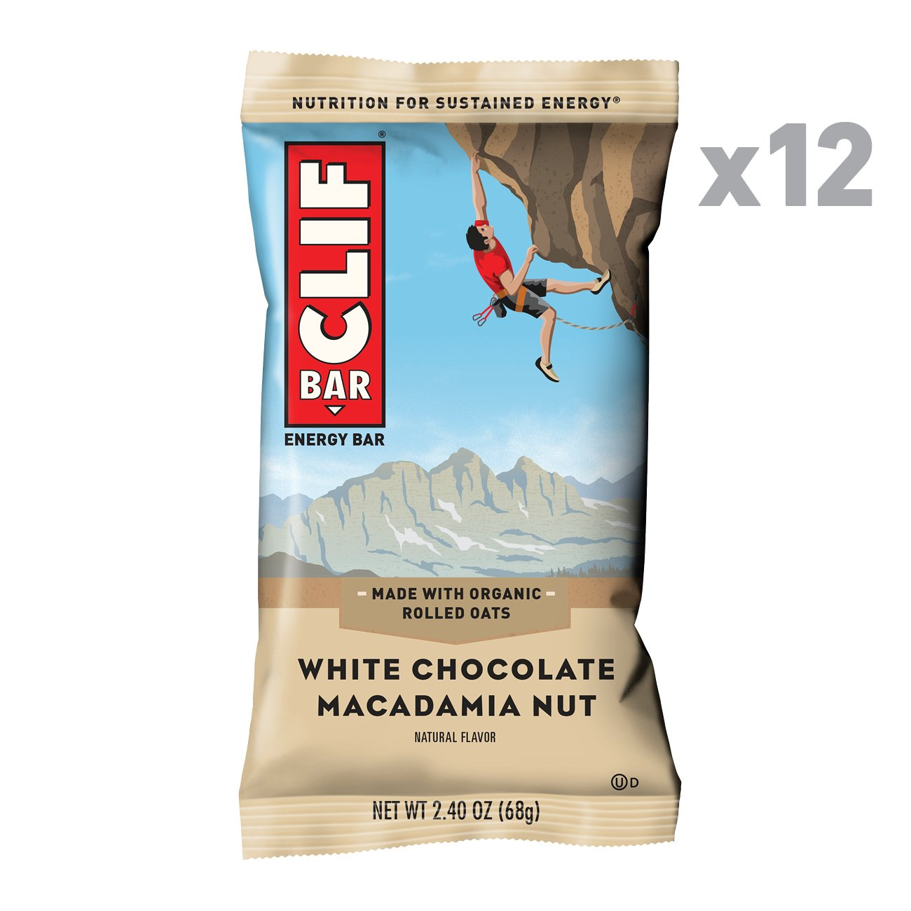 CLIF BAR - Energy Bar - White Chocolate Macadamia Flavor - (2.4 Ounce Protein Bar, 12 Count) by Clif Bar