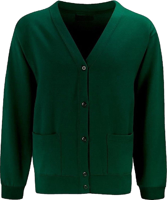 Bottle Green Skooleez School Uniform Fleece Sweat Cardigan