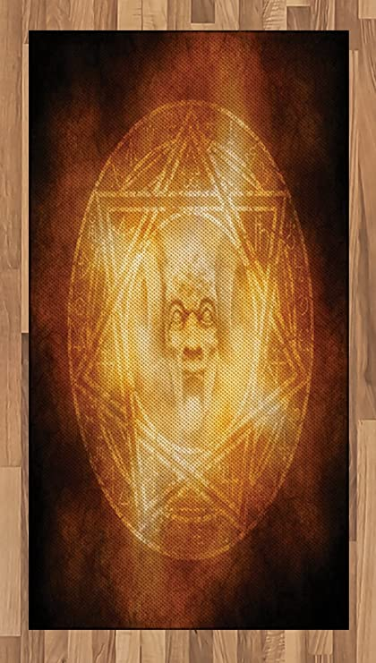 Amazon Ambesonne Horror House Area Rug Demon Trap Symbol Logo