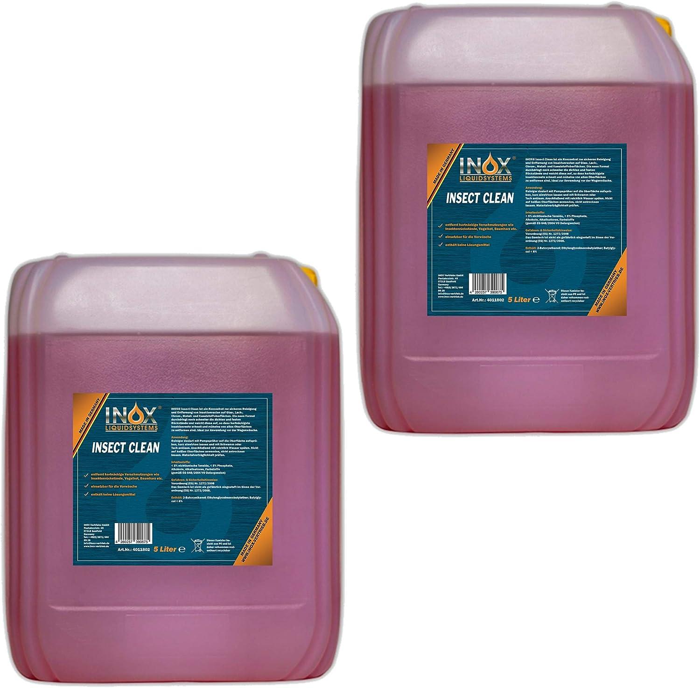Inox Insektenreiniger Insektenentferner Konzentrat 2 X 5l Reiniger Für Die Fahrzeugpflege Auto