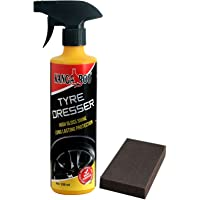 KANGAROO TYRE Polish & Dresser (Black Shine) 350 ML+ Foam PAD
