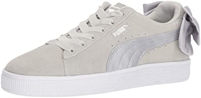 515041f1eba PUMA Unisex Suede Bow Jr Sneaker, Gray Violet, 4 M US Big Kid