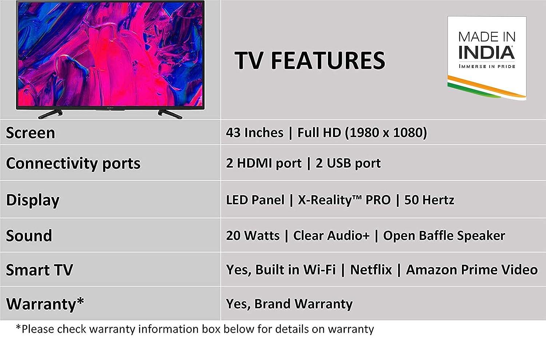 Sony Bravia 108 cm (43 inches) Full HD Smart LED TV