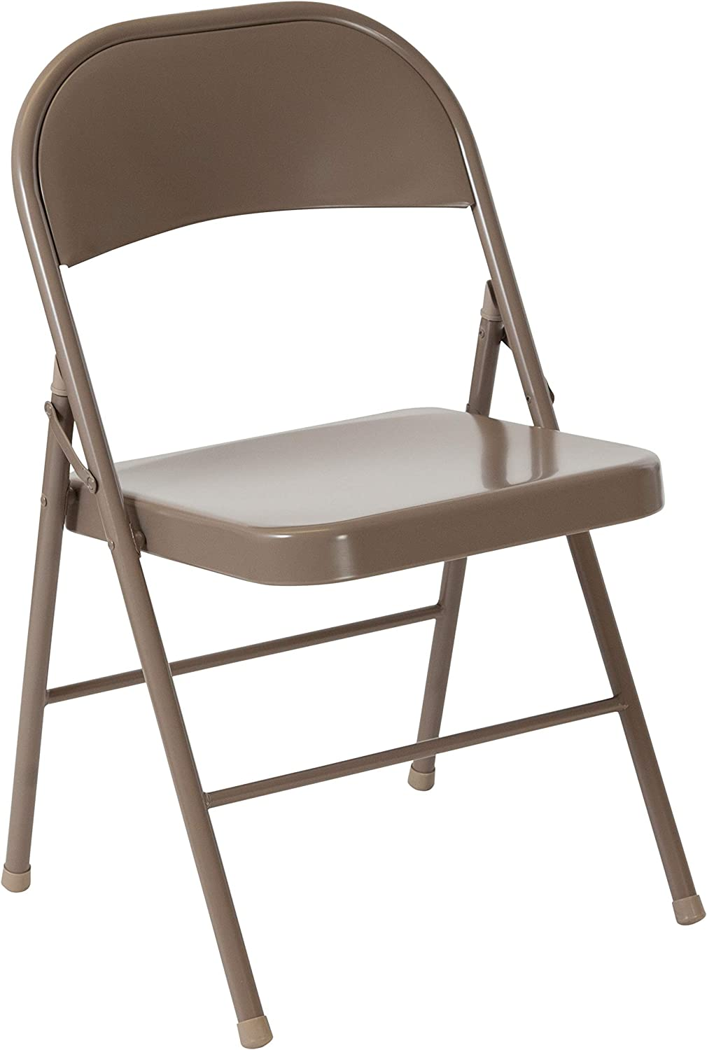 Flash Furniture HERCULES Series Double Braced Beige Metal Folding Chair