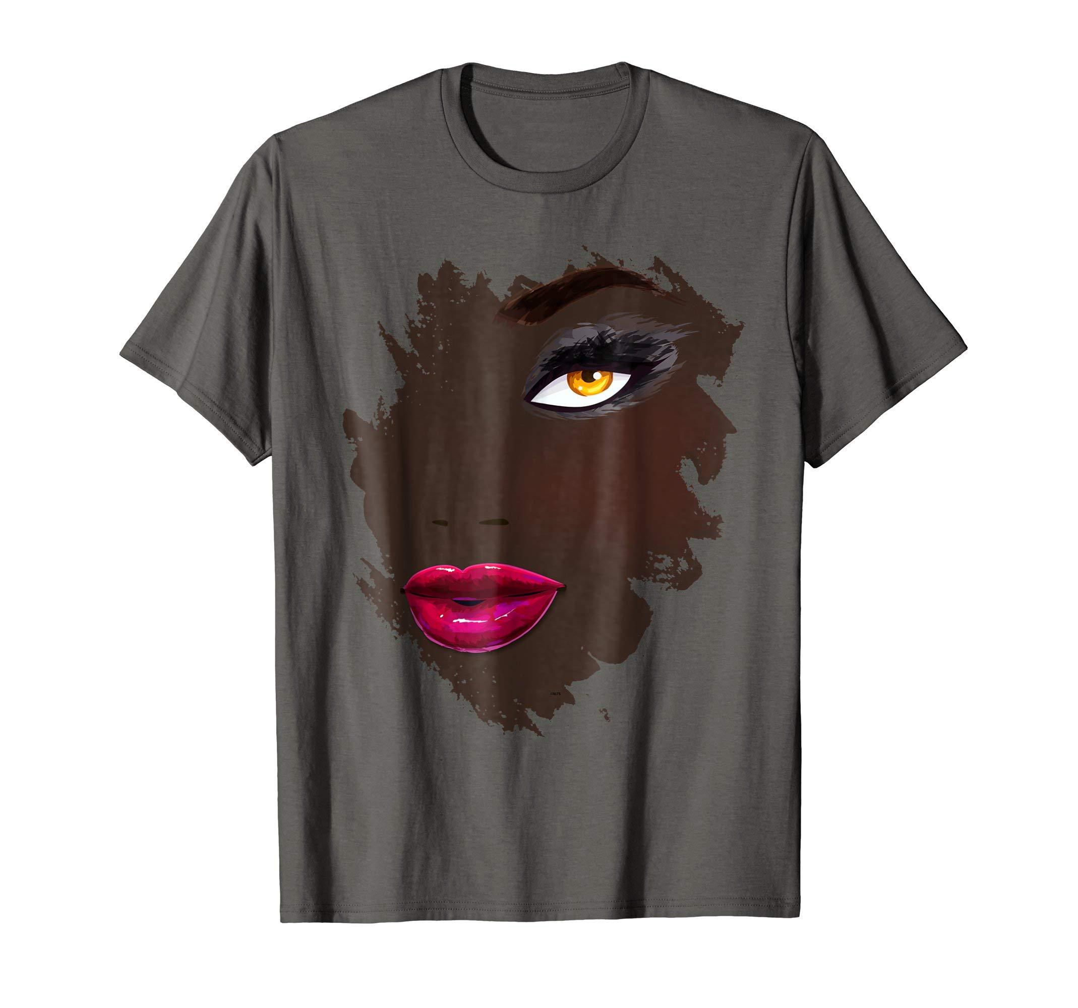 African-American-Eyelashes-Makeup-In-Vogue-t-shirt