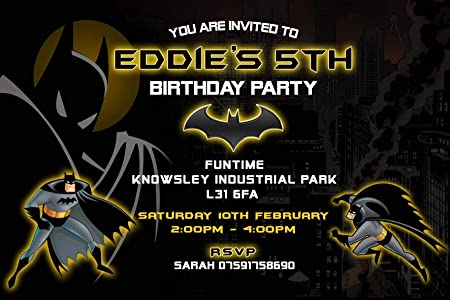 Image Unavailable Not Available For Colour Batman Birthday Party Invitations