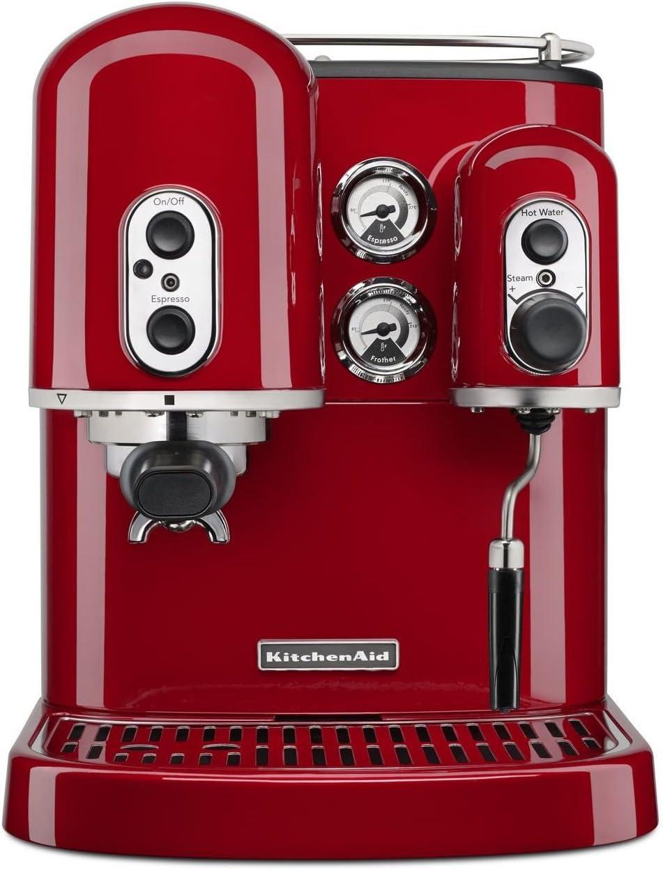 KitchenAid 5KES2102EOB - Cafetera automática de diseño rustico, color rojo: Amazon.es: Hogar