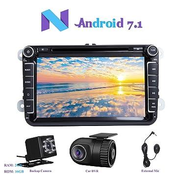 """Android 7.1 Autoradio, Hi-azul 2 Din Radio de Coche 8"""" Navegación GPS"""