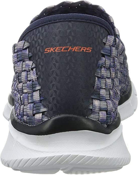 Details about Skechers Equalizer Vivid Dream Slip On Walking Womens Shoe BlackWhite Size 6