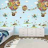 ElecMotive 2 pièces Montgolfières Ballon Autocollants Muraux Mural Stickers Chambre Enfants Bébé Garderie Salon